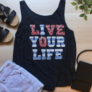 """Live your life """"Love"""" tank top, 4th of July"""